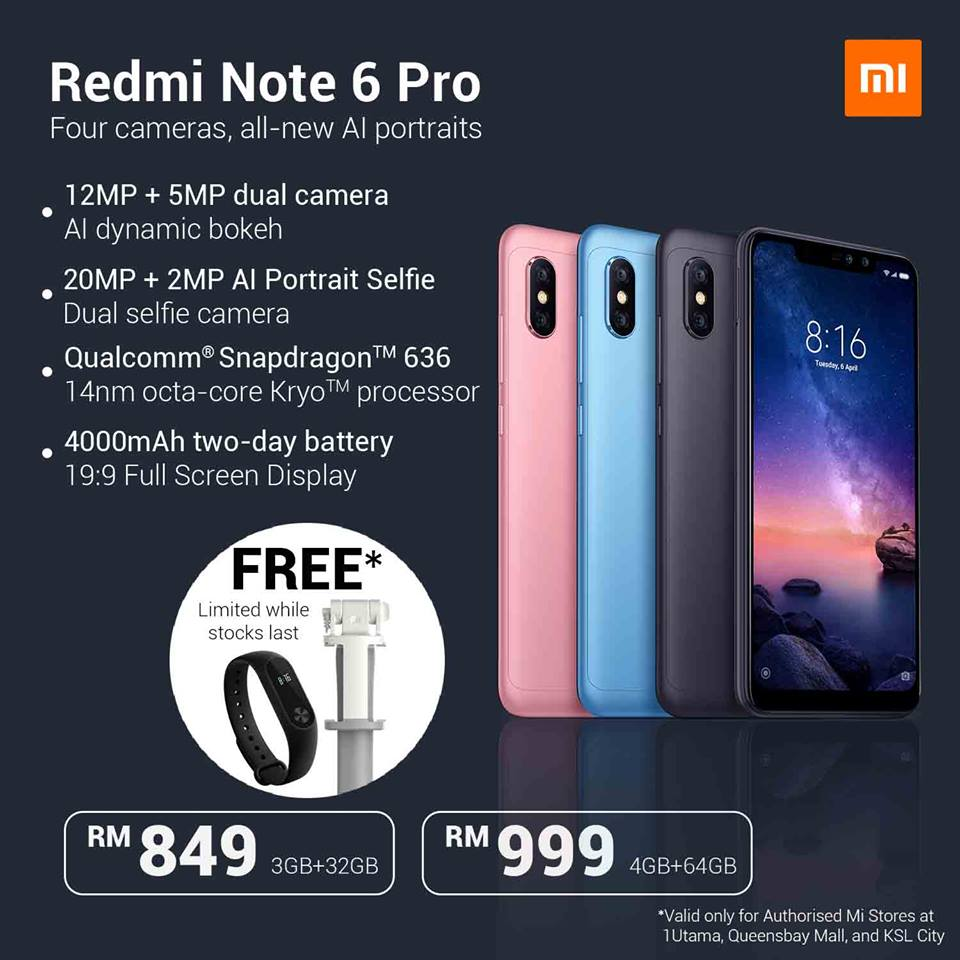 Redmi Note 6 Pro Available In Malaysia This 20th October