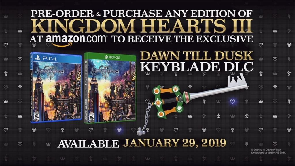 Pre-Order Kingdom Hearts 3 at Amazon And Get The Dawn Till Dusk Keyblade