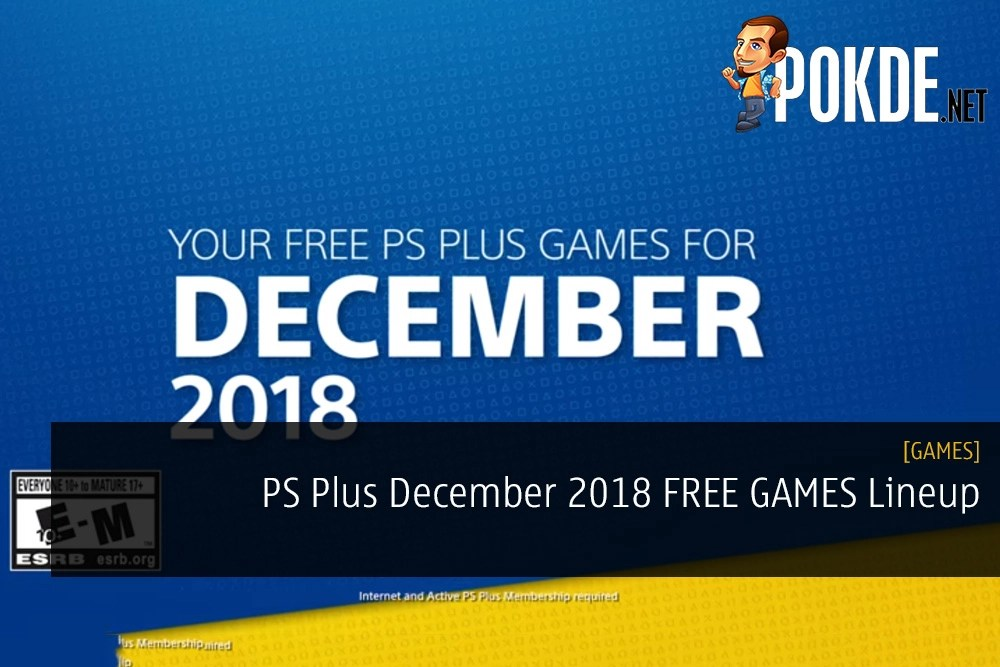 PS Plus December 2018 FREE GAMES Lineup