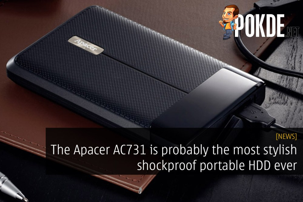 The Apacer AC731 is probably the most stylish shockproof portable HDD ever 22