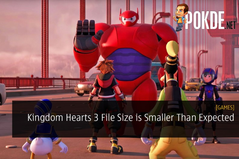 Kingdom Hearts 3 File Size is Smaller Than Expected