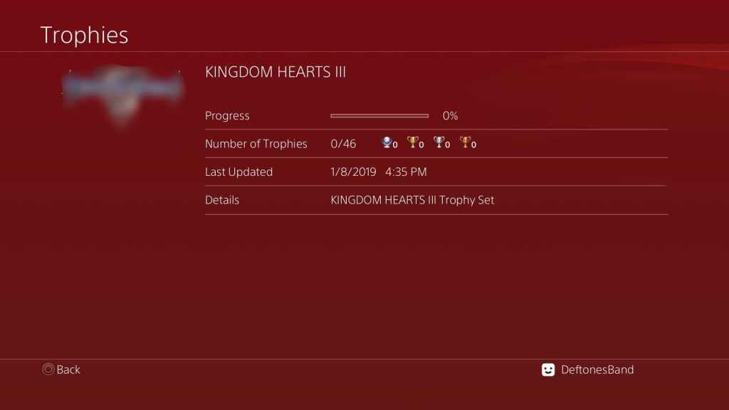 Kingdom Hearts 3 Trophy List Surfaces Online