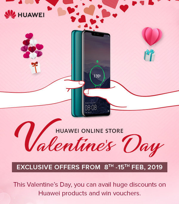 Free Gifts and Low Prices From Huawei This Valentine's Day