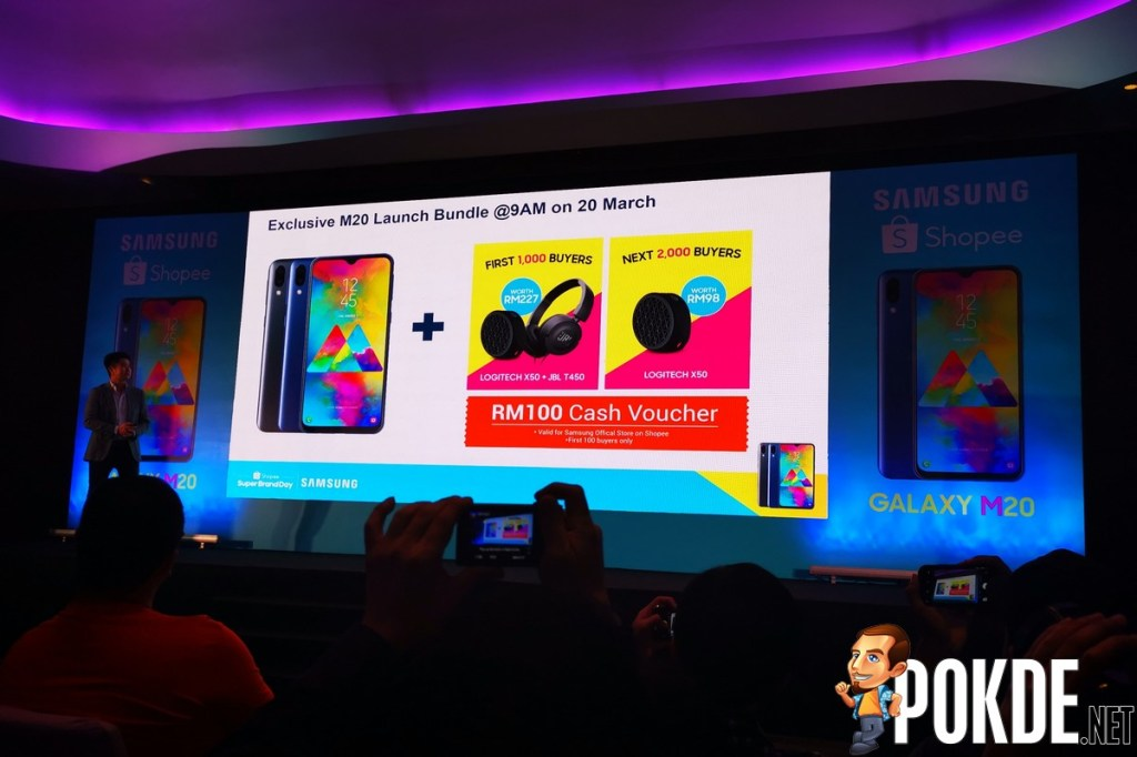 Samsung Galaxy M20 Officially Launched in Malaysia - Free Logitech and JBL Products