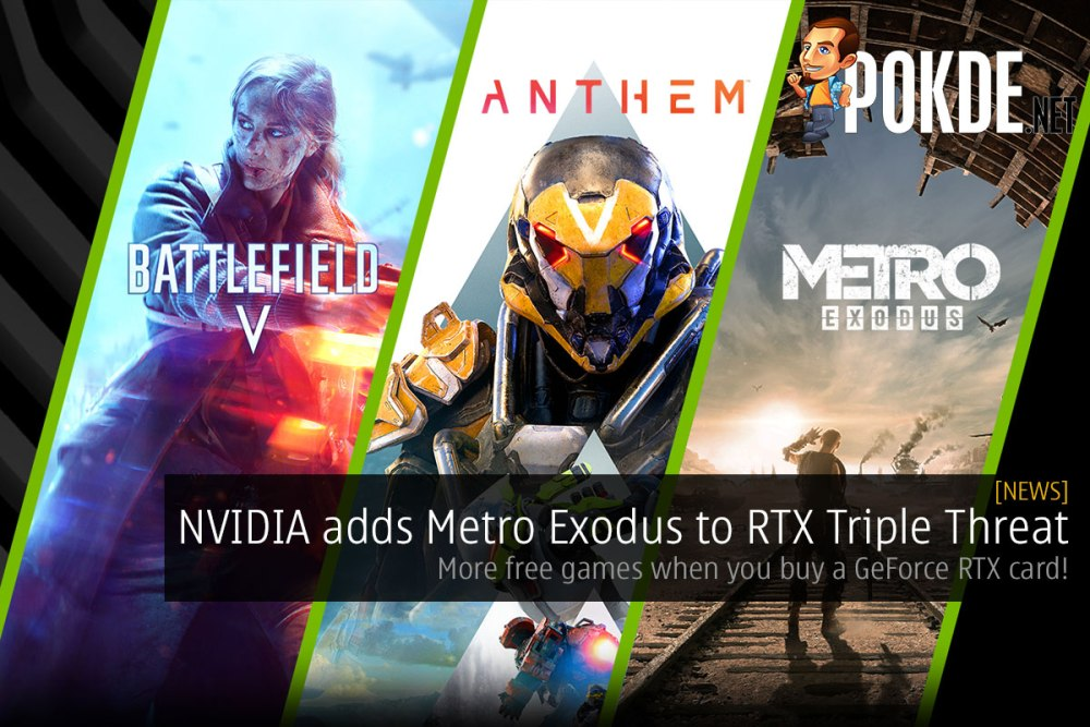 NVIDIA adds Metro Exodus to RTX Triple Threat — more free games when you buy a GeForce RTX card! 17