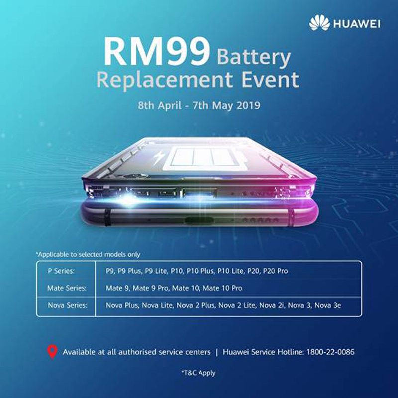 Get Your Original HUAWEI Smartphone Battery For RM99 32