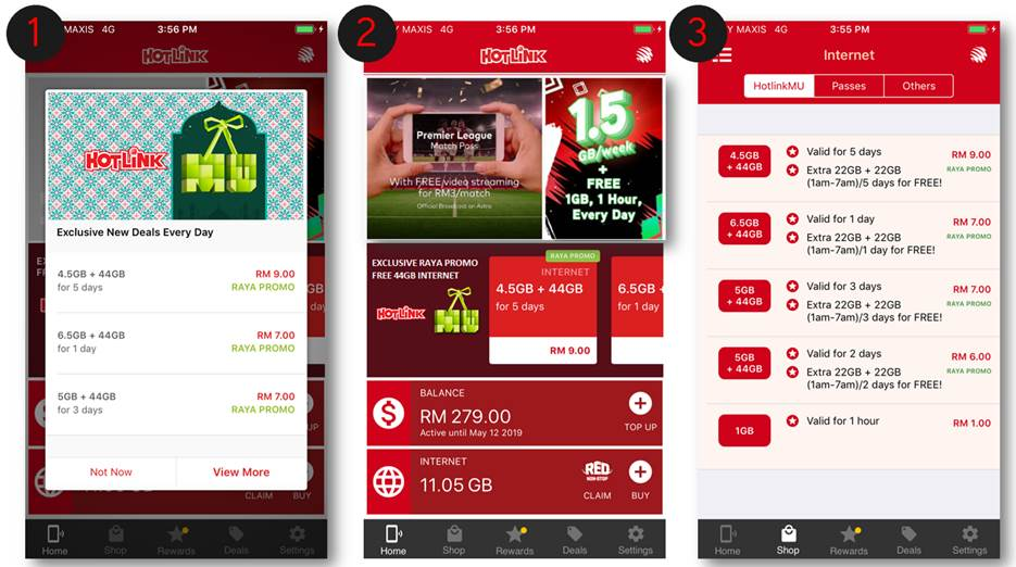 4b43f24fb If you are interested in the promo, all you need to do is purchase any  HotlinkMU RAYA Deals exclusively on the Hotlink RED App to instantly enjoy  the free ...