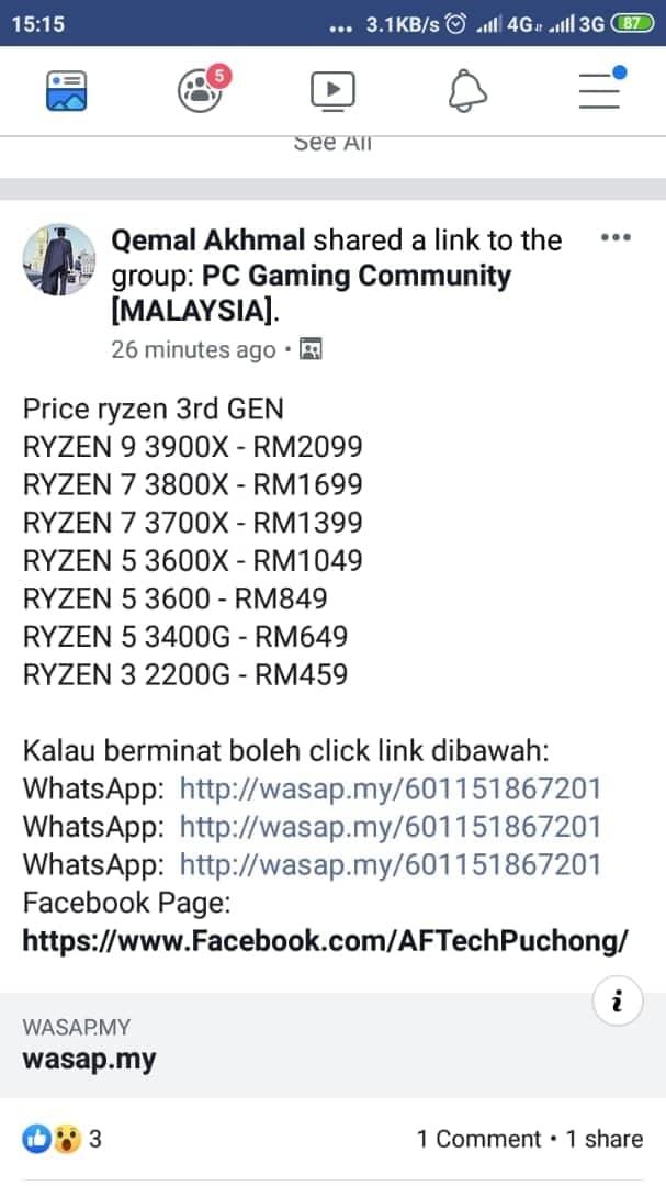 3rd Gen AMD Ryzen to start from RM849 in Malaysia? – Pokde