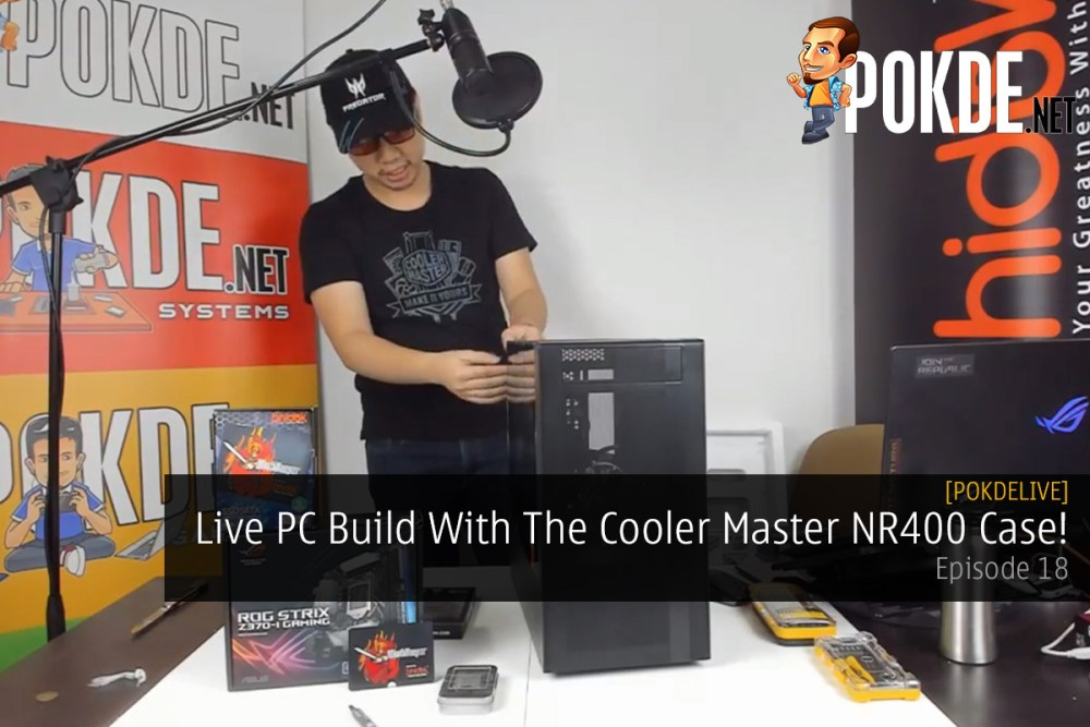 PokdeLIVE 18 — Live PC Build With The Cooler Master NR400 Case! 32