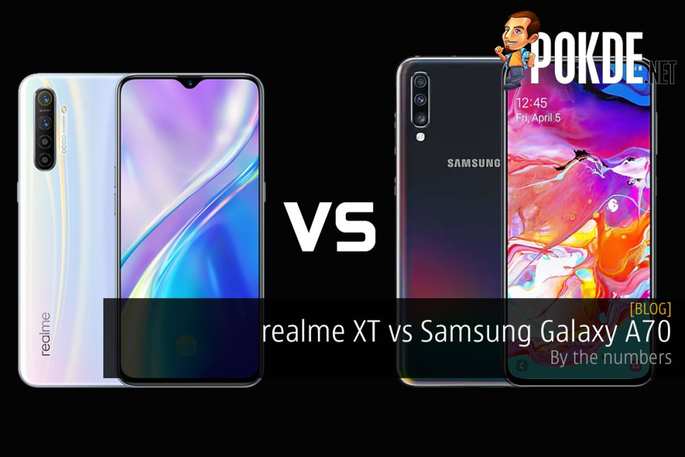 realme XT vs Samsung Galaxy A70 — by the numbers 26