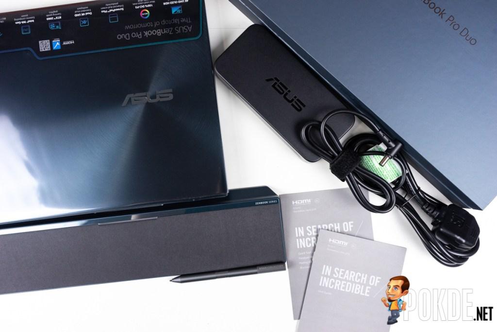 asus zenbook pro duo ux581 box content