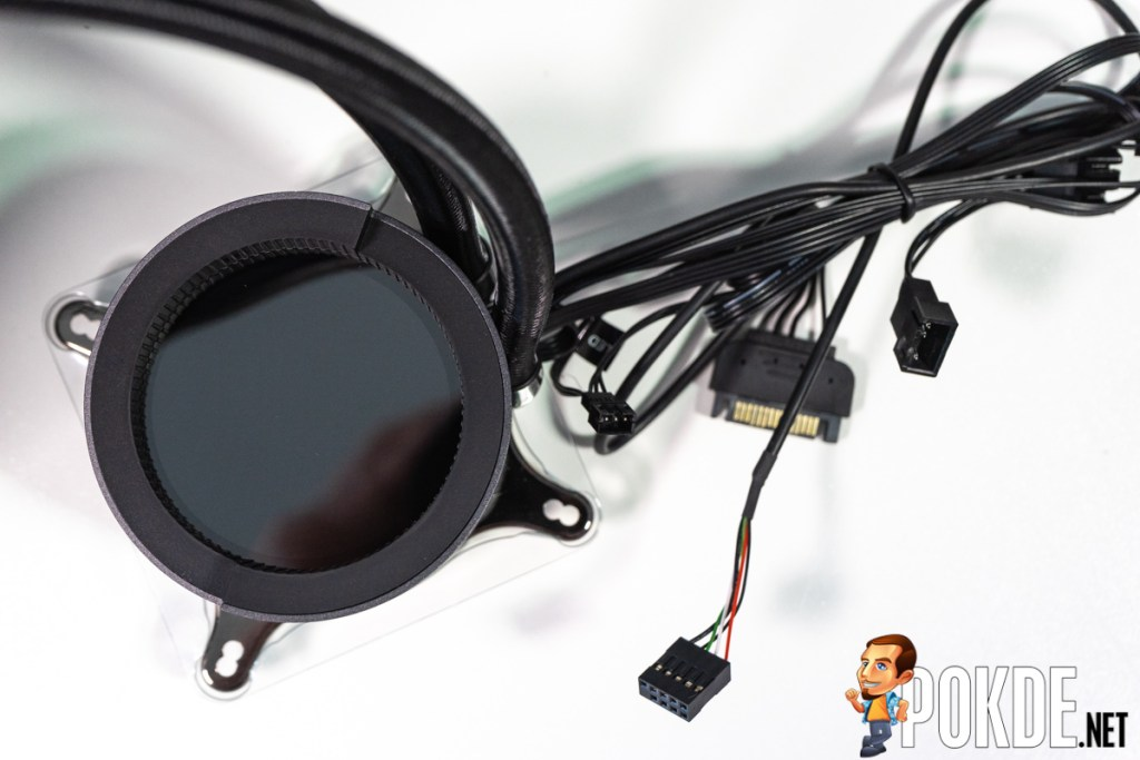gigabyte aorus liquid cooler 240 pum[ design