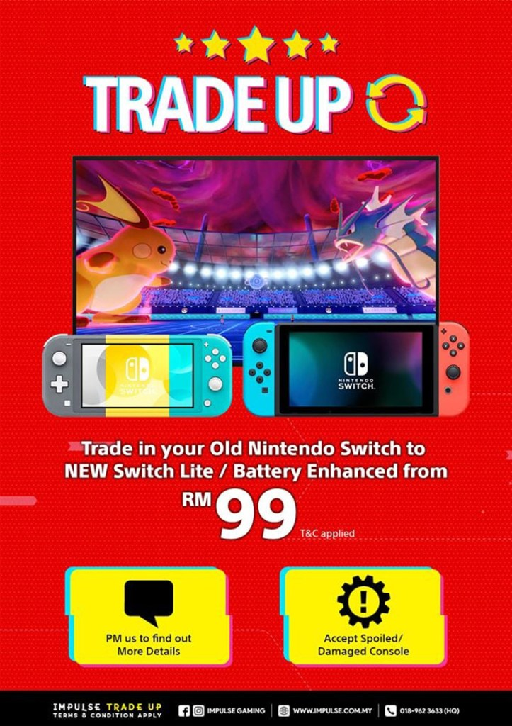 Here's How You Can Trade-up Your 1st Gen Nintendo Switch To Switch Lite Or Enhanced Version From Just RM99 23