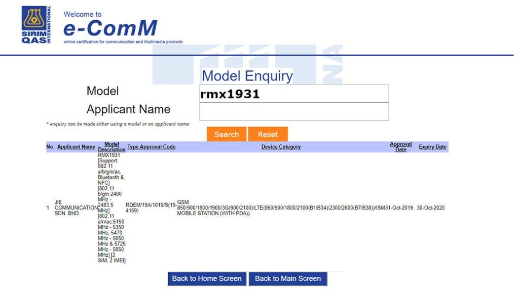 realme x2 pro rmx1931 sirim malaysia