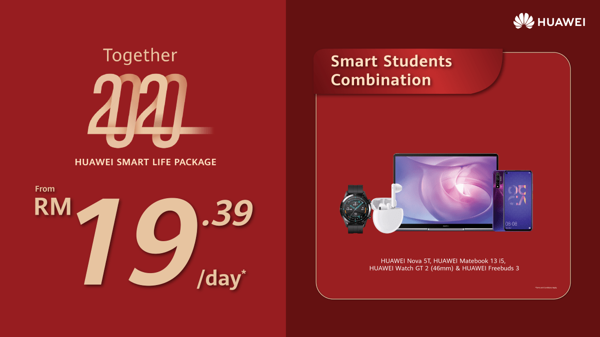 HUAWEI Smart Life Packages now offered from just RM8.97/day 24