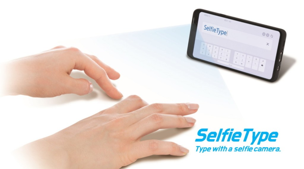 Samsung looks set to introduce SelfieType at next year's CES 2020, where it is a virtual keyboard that utilizes the front camera of a smartphone.