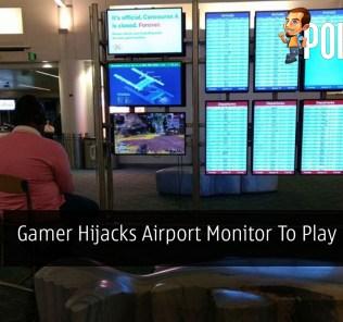 Gamer Hijacks Airport Monitor To Play His PS4 23