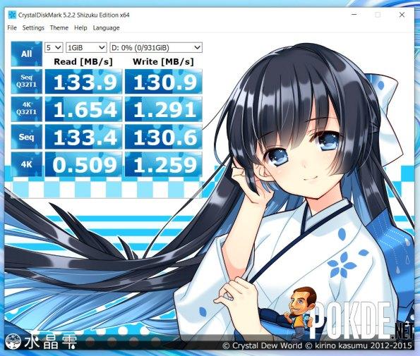 HUAWEI MateBook D 15 Seagate HDD CrystalDiskMark