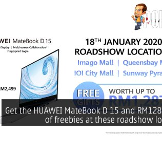 huawei matebook d roadshow freebies
