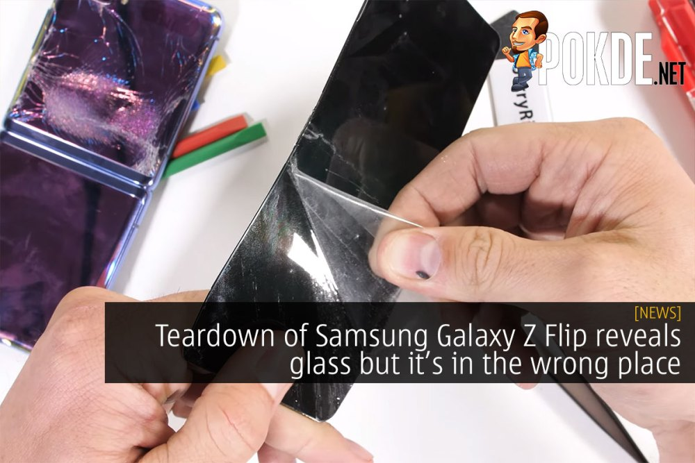 Teardown of Samsung Galaxy Z Flip reveals glass but it's in the wrong place 22