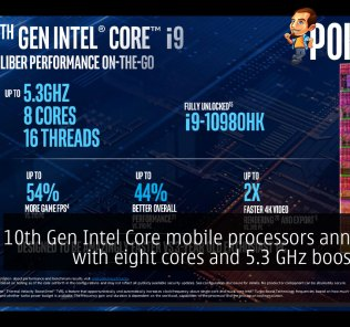 10th Gen Intel Core mobile processors announced with eight cores and 5.3 GHz boost clocks 29
