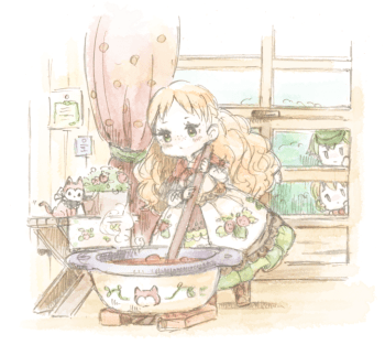 1_子猫と苺一枚絵