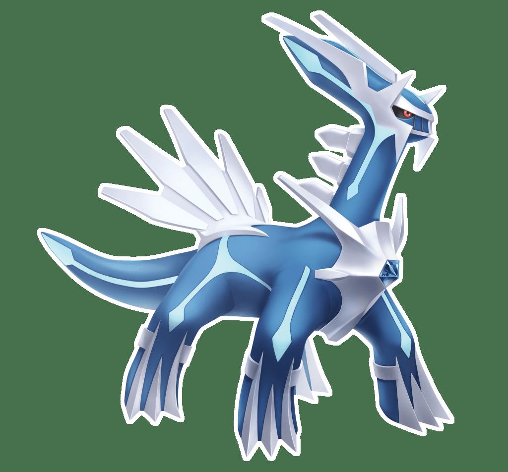 Artwork de Dialga pour Pokémon Diamant Étincelant et Perle Scintillante