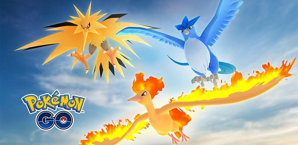 Pokémon GO Sulfura Artikodin Electhor