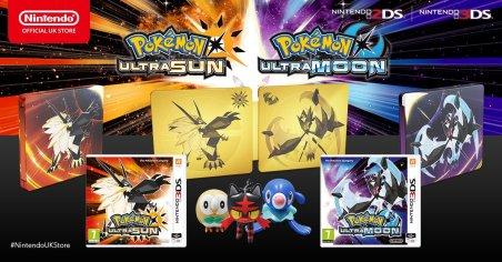 UK Pokémon Ultra Sun and Ultra Moon preorder bundles