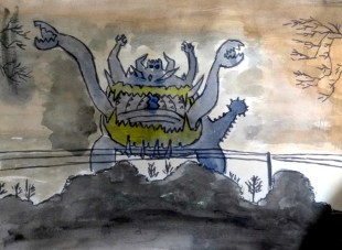 """Guzzlord the shadow monster"" by Prashanth Raghuram"