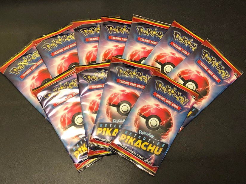 Detective Pikachu booster packs