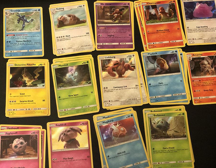 Detective Pikachu TCG cards