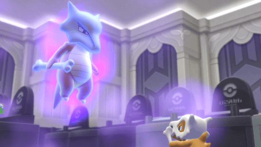 Marowak and Cubone, screenshot, Pokémon Let's Go, Eevee! (2018)