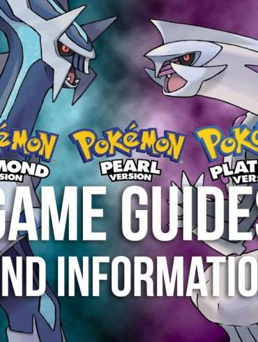 Pokémon Diamond, Pearl & Platinum Guides and Information