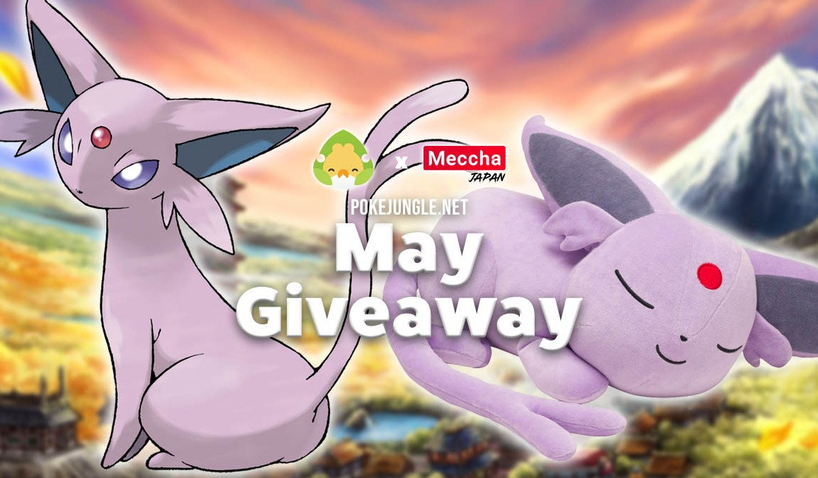 Giveaway for a sleeping Espeon plushie
