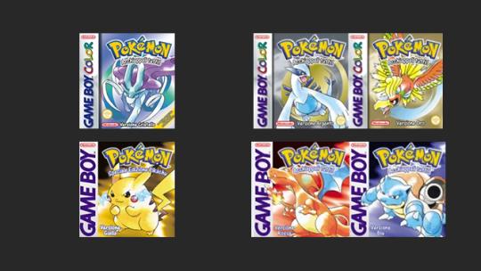 Nuove sezioni Giochi Pokémon di Seconda e Prima Generazione