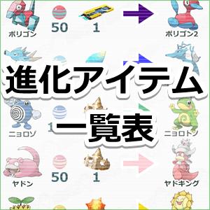【ポケモンGO】進化アイテムで進化できるポケモンを一覧表に ...