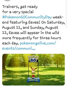 Eevee next community day also pokemon go gamepress rh pokemongomepress
