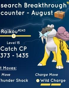 Raikou field research reward also comprehensive guide pokemon go hub rh pokemongohub