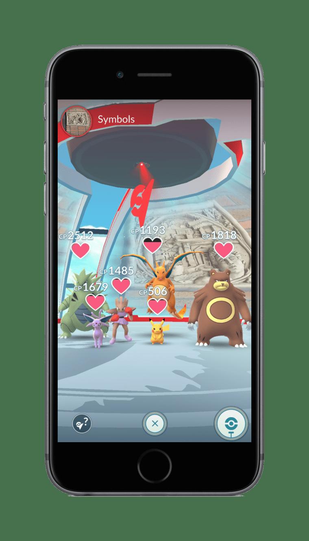 Pokémon GO Gym Group Shot