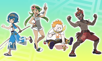 Lana, Mallow, Sophocles and Kiawe (L to R)