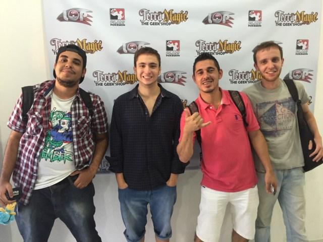 Campeões do Premier Challenge SP #2. Da esquerda para a direita: Ricardo, Yan, Marcos e Gustavo.