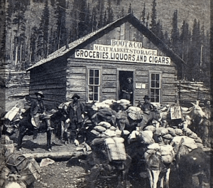 A Lake City boomtown store around 1892
