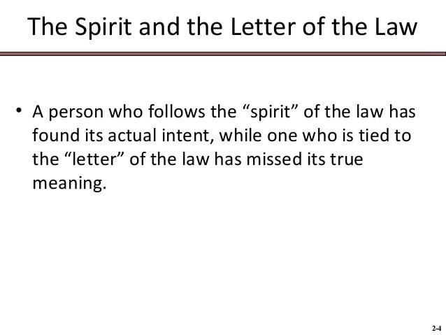 Letter vs the Spirit of the Law - pokercalendar.asia