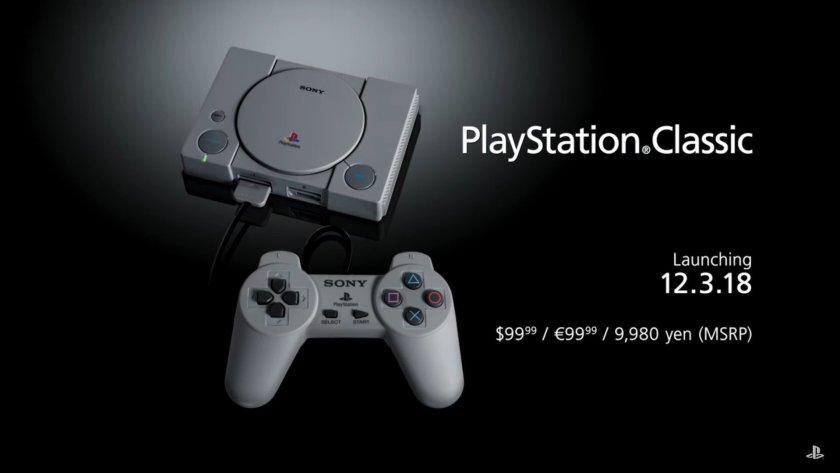 Sony Umumkan PlayStation Classic Memfiturkan 20 Pre-Loaded Games
