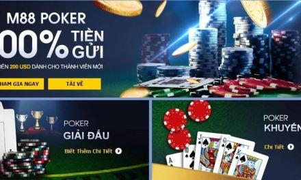 Đăng ký M88 chơi Poker online nhận $200 tiền thưởng