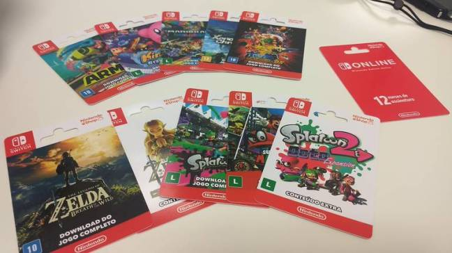 Nintendo Switch Game Download Cards Now Being Sold By