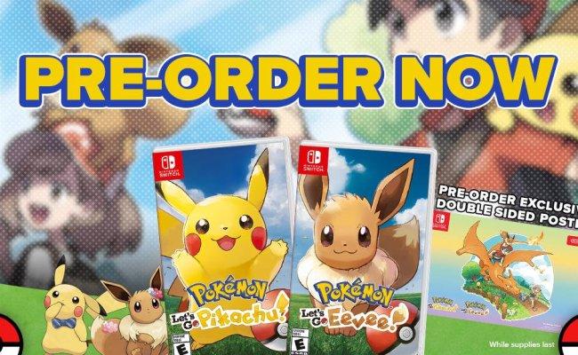 Gamestop Pre Orders Of Pokémon Let S Go Pikachu And Let S