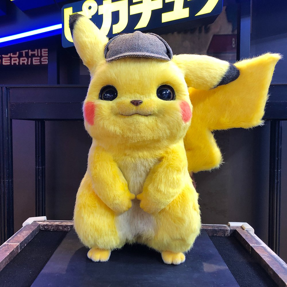 Realistic life-size POKÉMON Detective Pikachu movie plush revealed for Japan – Pokémon Blog