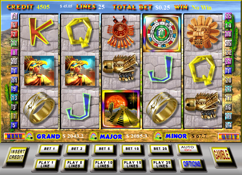 play free download Cortez Treasure Gold aztec